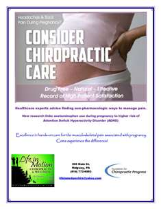 Consider Chiropractic Care During Pregnancy